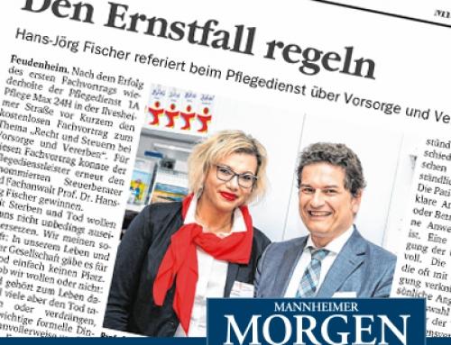 """Review zum vergangenen2. Fachvortrag """"Vorsorge undVererben"""" vom 26. Sept."""